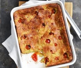 Clafoutis aux tomates et au pesto