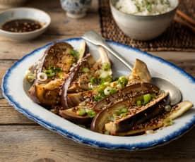 Gaji Namul (Steamed Aubergine Side Dish)