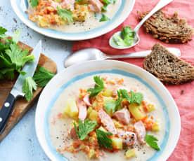 Chowder au saumon