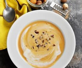 Crème de butternut aux châtaignes