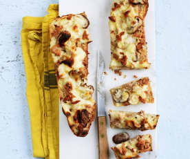 Croque-baguette thon-champignons