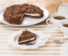 Sbriciolata di biscotti alla crema gianduia e mascarpone