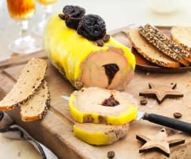 Foie gras au café et aux pruneaux