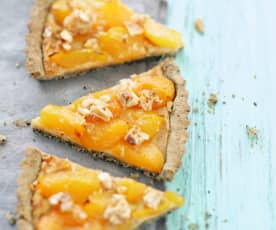 Tarte aux abricots et au nougat