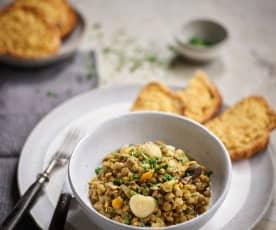 Estufado de lentilhas e castanha