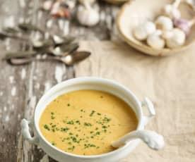 Sopa de couve-flor e alho assados