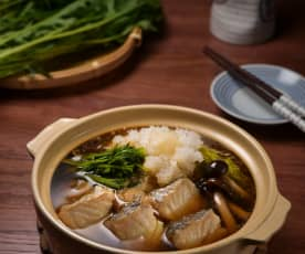 鱈魚白菜雪見鍋