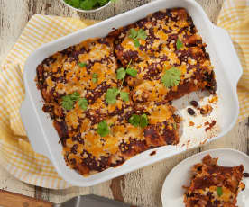 Ancho-Cranberry Turkey Enchiladas