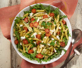 Turkey, Asparagus and Goat Cheese Penne