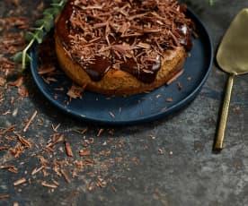 Cheesecake de chocolate e avelã