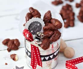 Migdały w polewie czekoladowo-kawowej