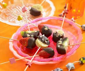 Lecca lecca di frutta e cioccolato