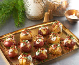 Baby Potatoes with Prosciutto Dust