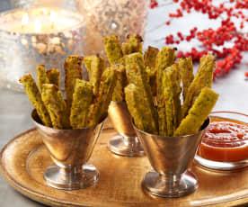 Baked Kale Polenta Fries