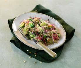 Kohlsprossen-Maroni-Gemüse