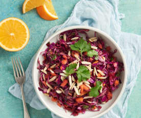 Cabbage Salad with Almond-Orange Vinaigrette