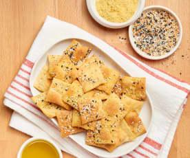 Vegan Parmesan Crackers