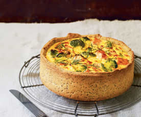 Quiche au saumon et au brocoli