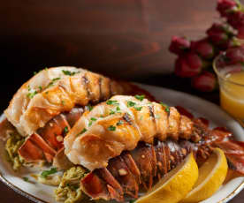 Crab Stuffed Lobster Tails