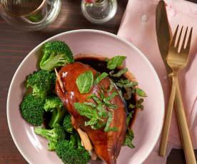 Caprese Stuffed Balsamic-Glazed Chicken