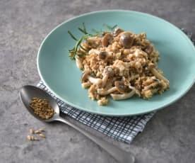 白醬野菇燕麥燉飯