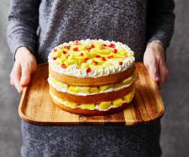 Naked cake ananas-mangue-grenade