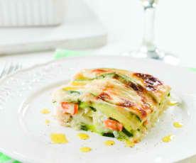 Lasagnes de courgette et poisson