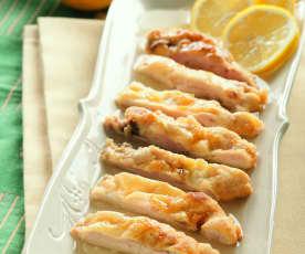 Kuře s citrónovo-vinnou omáčkou