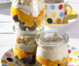Schoko-Pfirsich-Trifle
