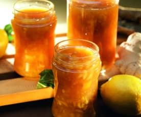 Mermelada de limón, miel y jengibre