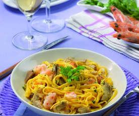 Tagliolini aux crevettes et artichaut