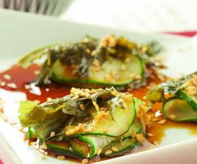 Gurkensalat mit Wakame-Algen