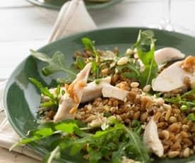 Dinkel-Hähnchen-Salat