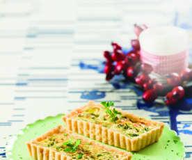 Miniquiches de alho-francês