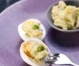 Erbsen-Kartoffel-Topf mit Eiern