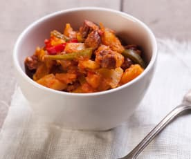 Paprika-Kartoffeln mit Kabanossi