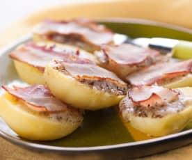 Käsekartoffeln vom Backblech