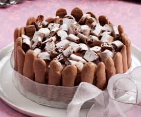 Torta di meringa e mousse al cioccolato