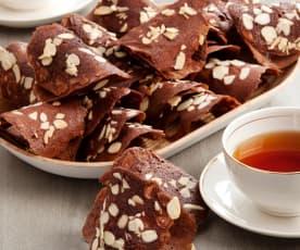 Tegole al cacao con mandorle
