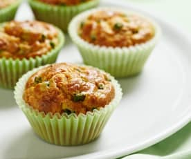 Vegetable and Hazelnut Cheese Muffins