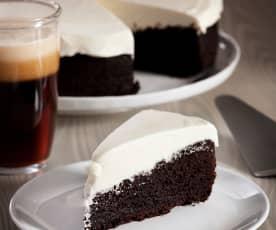 Piškotový dort s černým pivem