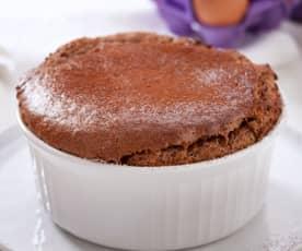 Soufflé al cioccolato extra fondente