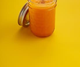 Jus orange carotte poire