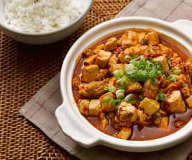 Spezzatino di tofu e maiale dello Sichuan