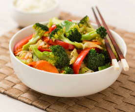 Chinese Style Stir-Fried Vegetables