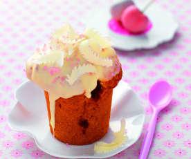 Muffins griottes et chocolat blanc