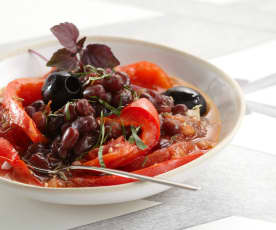 Potée de haricots azuki à la provençale