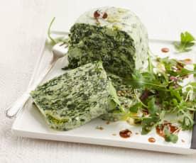 Sýrová terina s brokolicí a čerstvým špenátem