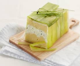 Terrine fromagère de polenta au poireau