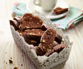Cantucci czekoladowe z pistacjami